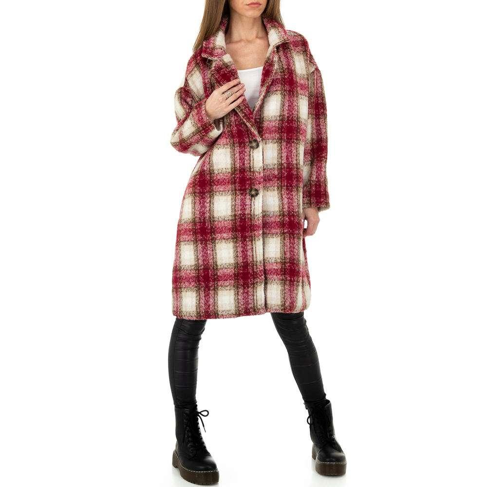 Palton de dama de la Shako White Icy - rosu