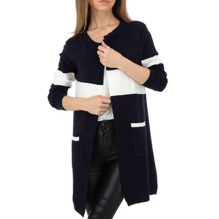 Damen Strickjacke von Whoo Fashion Gr. One Size - DK.blue