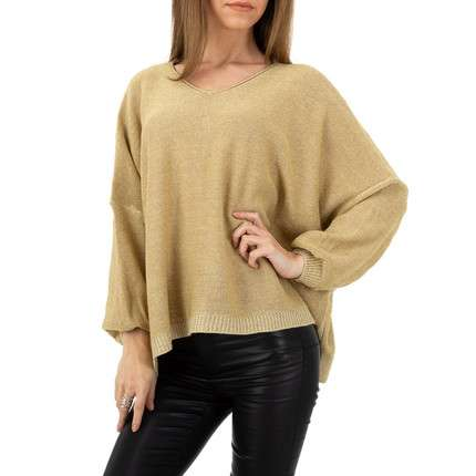 Damen Pullover von Whoo Fashion Gr. One Size - gold