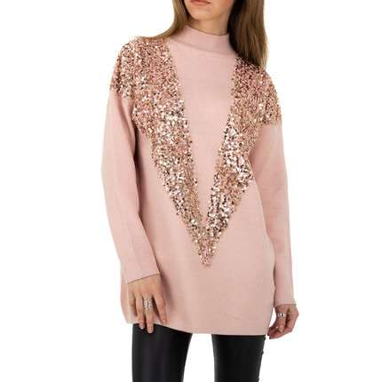 Damen Pullover von Shako White Icy Gr. One Size - rose