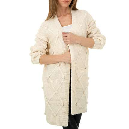 Damen Strickjacke von Shako White Icy Gr. One Size - cream