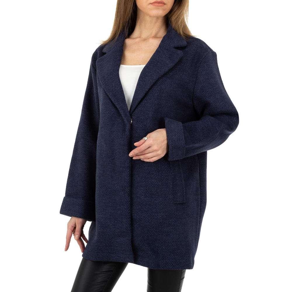 Palton pentru femei de JCL - albastru închis - image 1