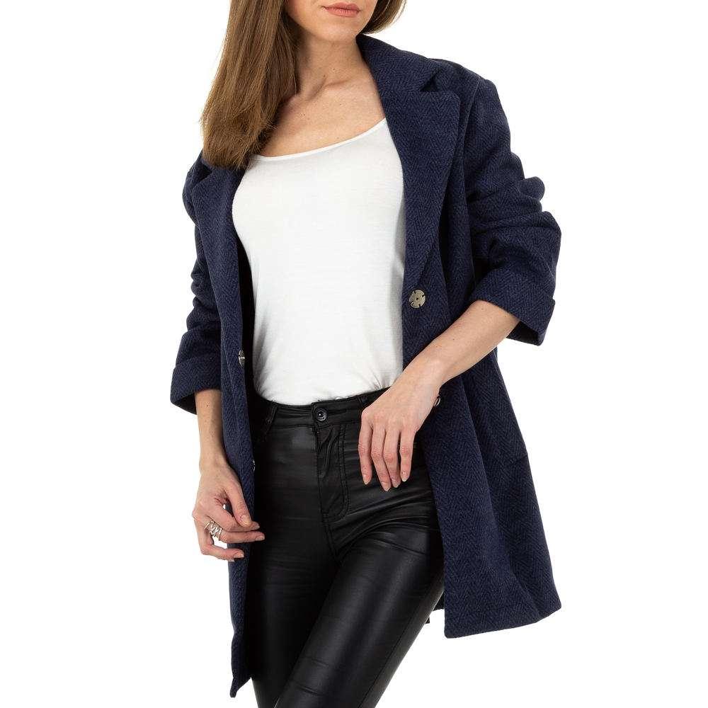 Palton pentru femei de JCL - albastru închis - image 4