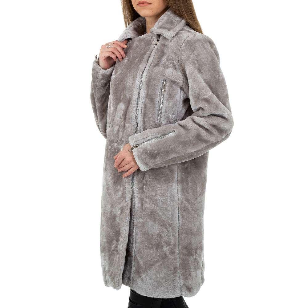 Palton pentru femei de JCL - gri - image 2