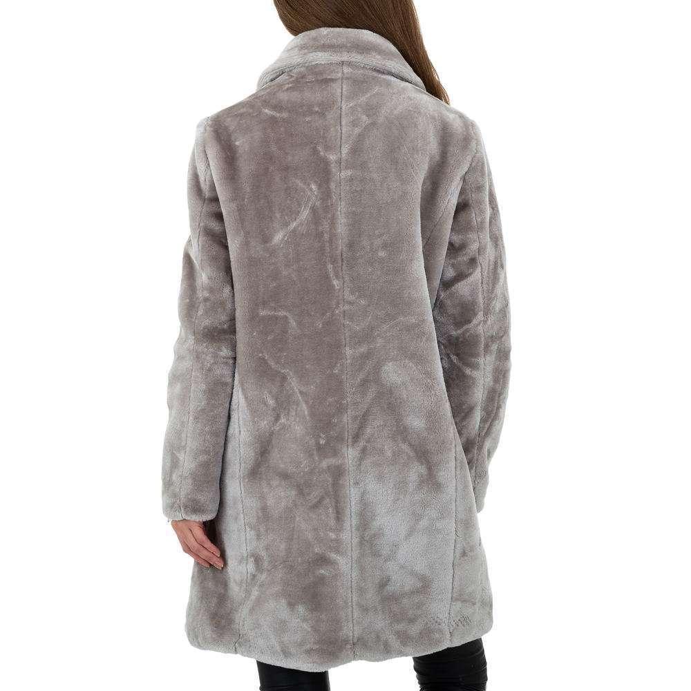 Palton pentru femei de JCL - gri - image 3