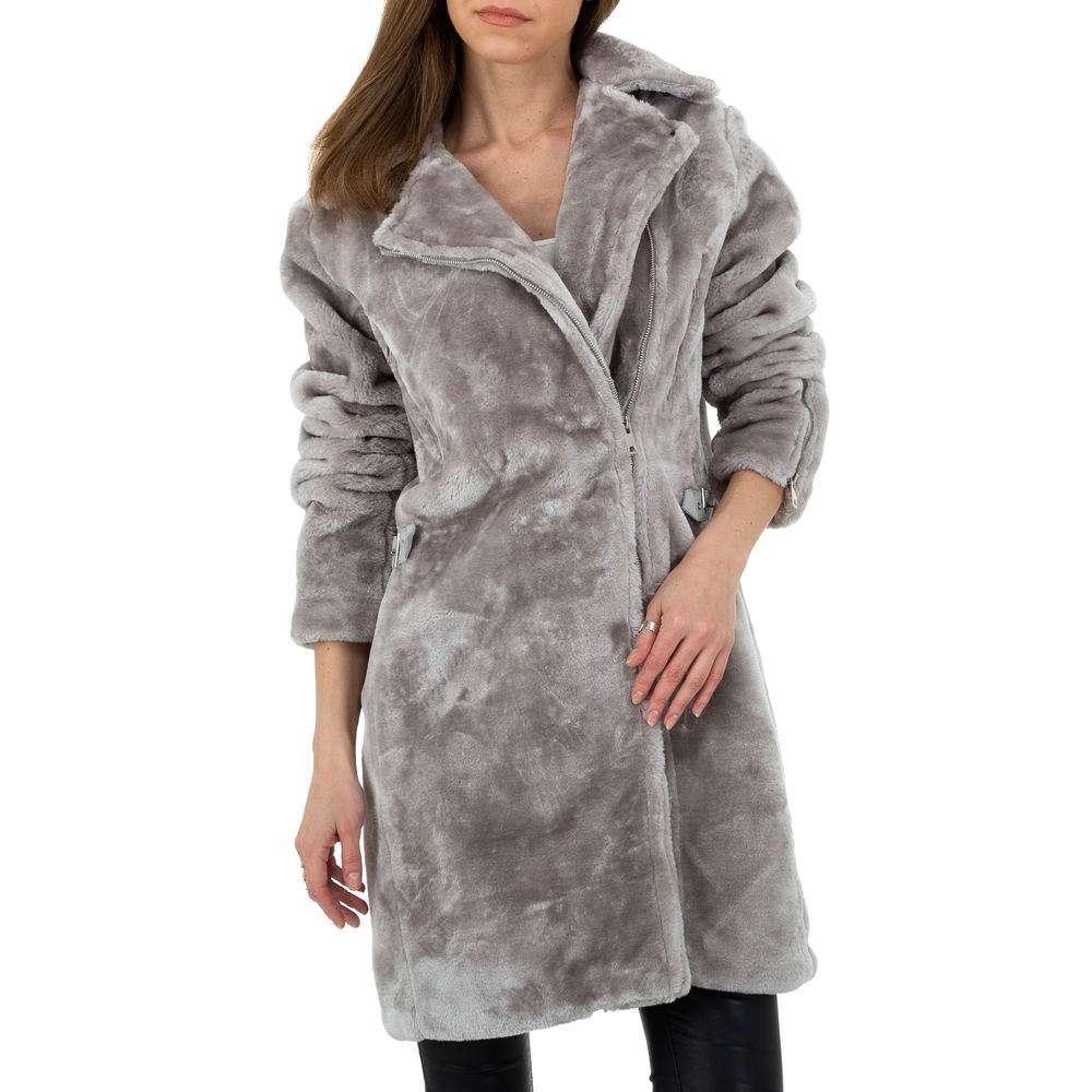 Palton pentru femei de JCL - gri - image 4