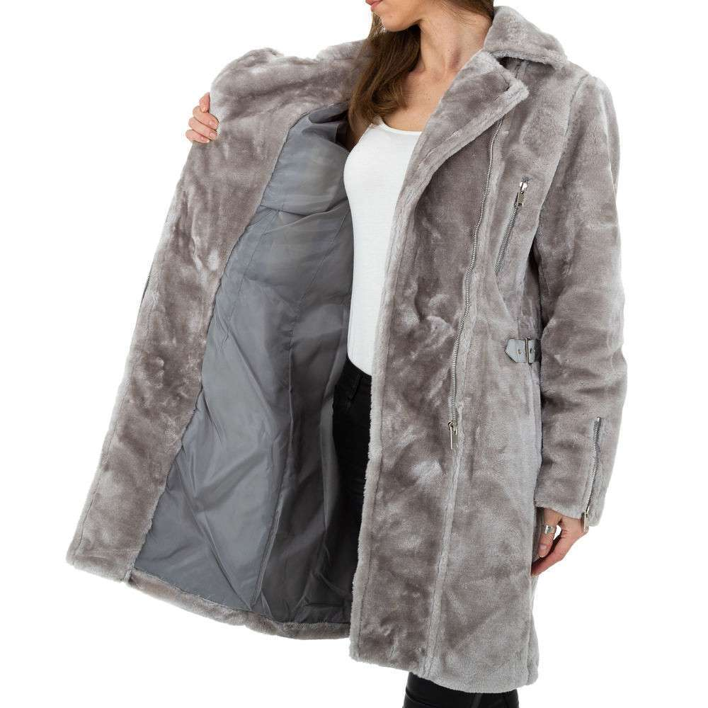 Palton pentru femei de JCL - gri - image 5