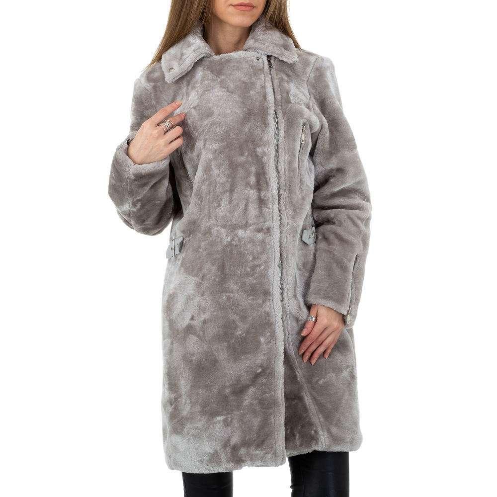 Palton pentru femei de JCL - gri - image 6