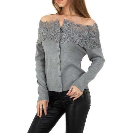 Damen Strickjacke von Shako White Icy - grey