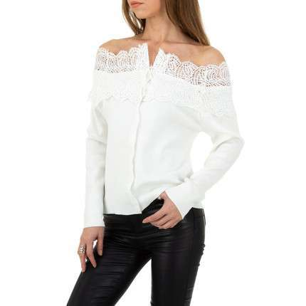 Damen Strickjacke von Shako White Icy - white