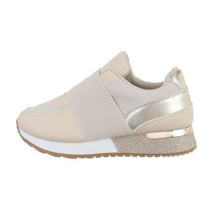 Damen Low-Sneakers - beige