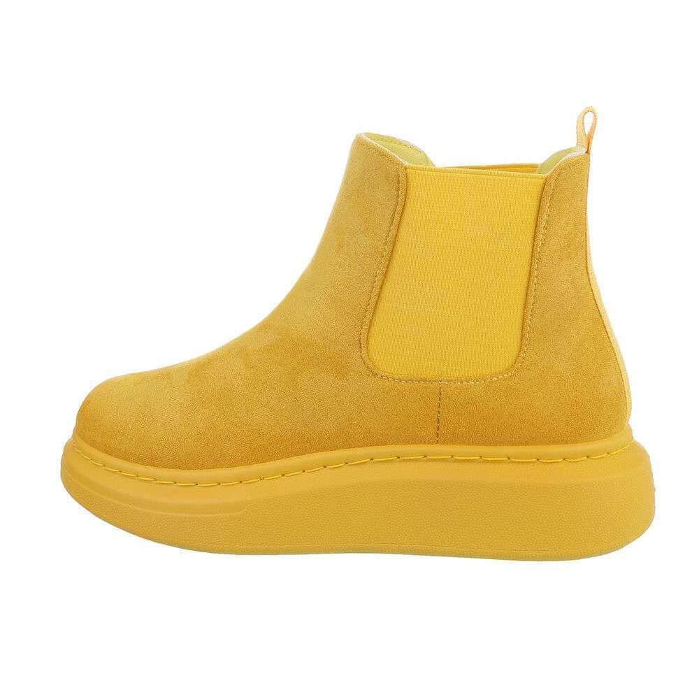 Cizme Chelsea pentru femei - galbene - image 1