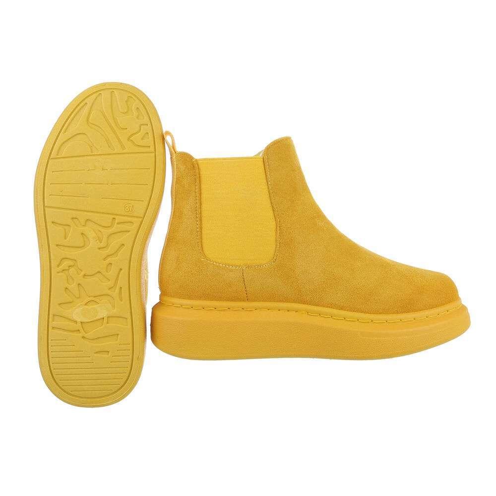 Cizme Chelsea pentru femei - galbene - image 2