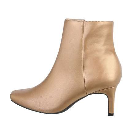 Damen High-Heel Stiefeletten - gold