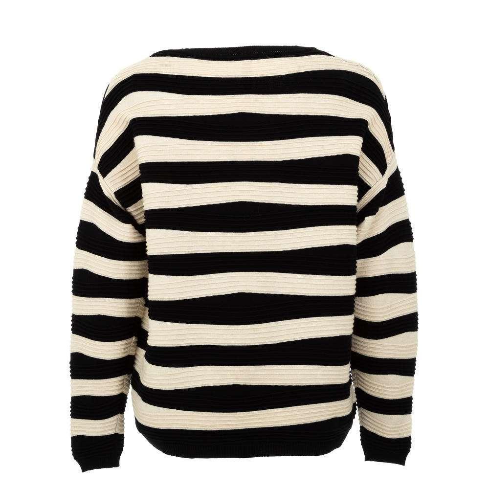 Pulover pentru femei de CMP55 Gr. O singură mărime - negrucrem - image 2