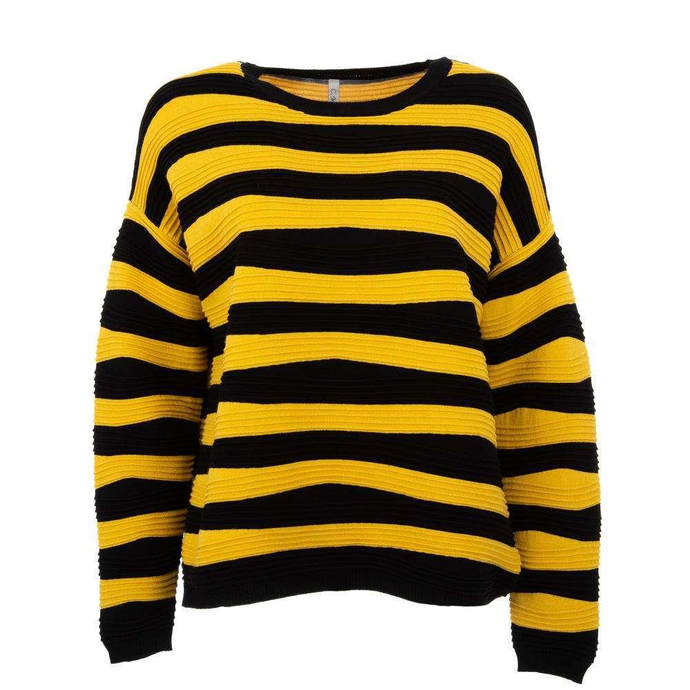 Pulover pentru femei de CMP55 Gr. O singură mărime - galben-negru - image 1