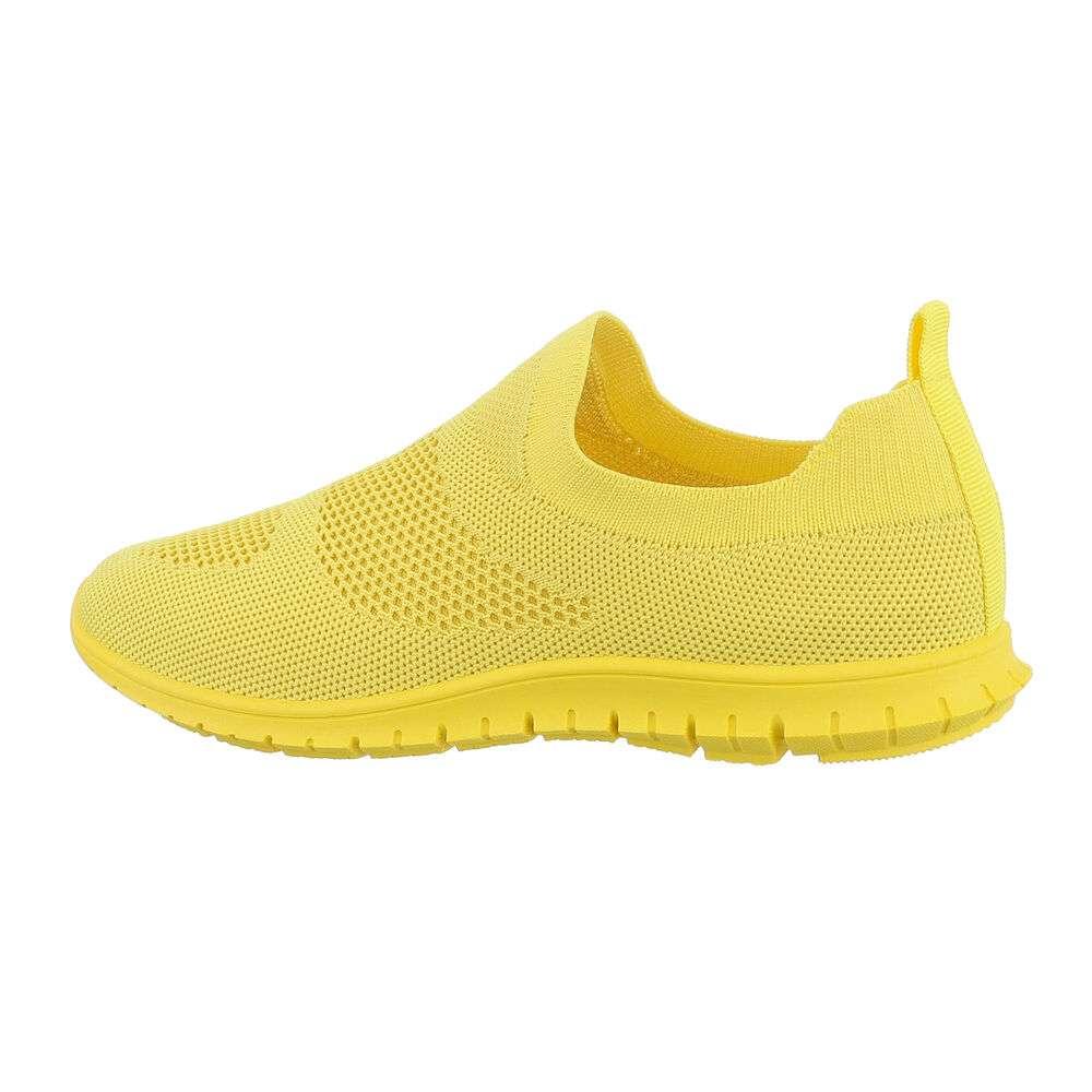 Adidași sport pentru femei - galbeni