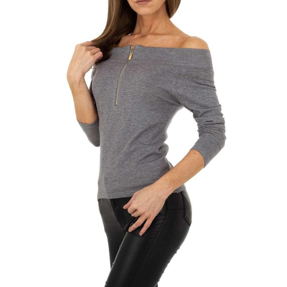 Pulover pentru femei marca Glo storye - gri - image 1