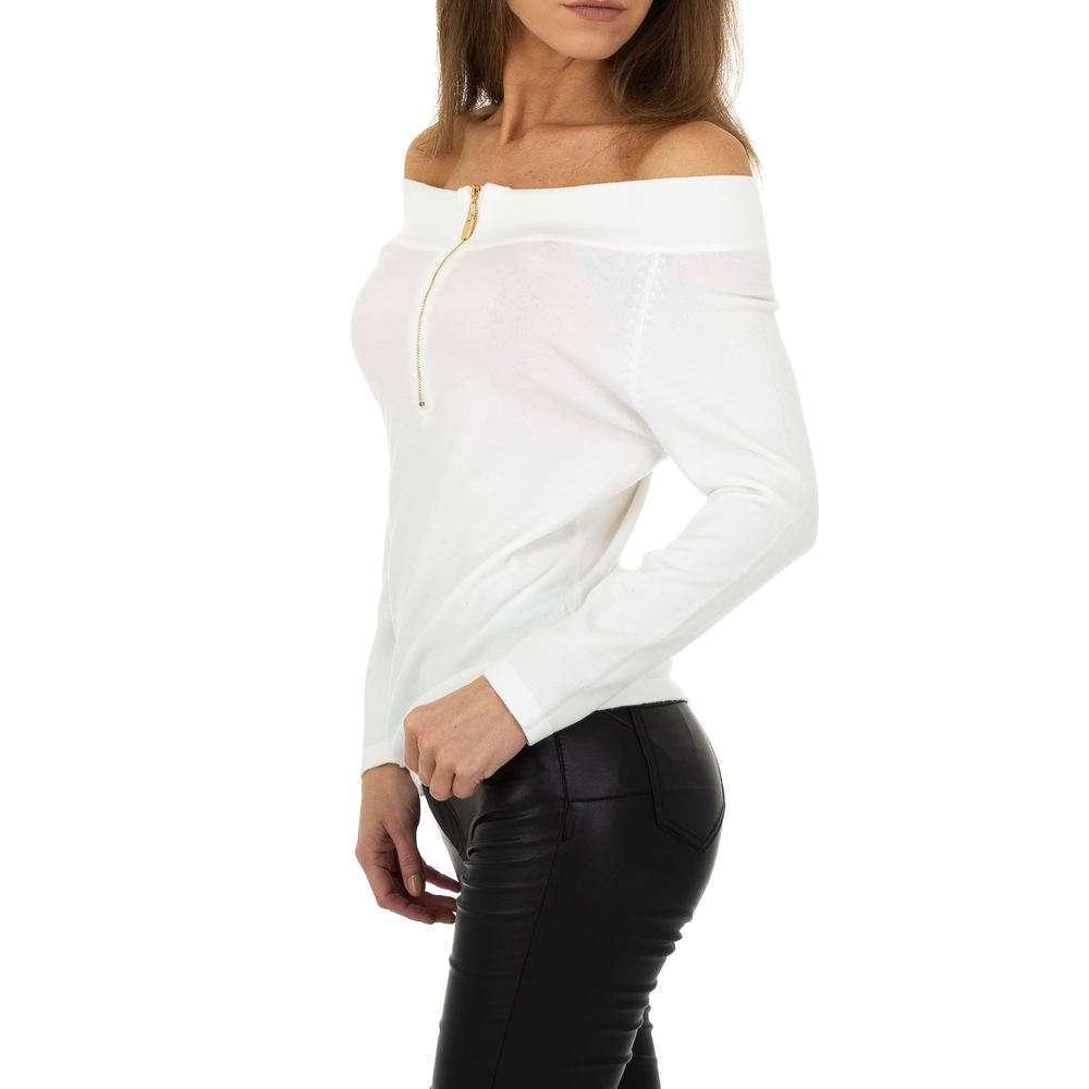 Pulover pentru femei de la Glo storye - alb