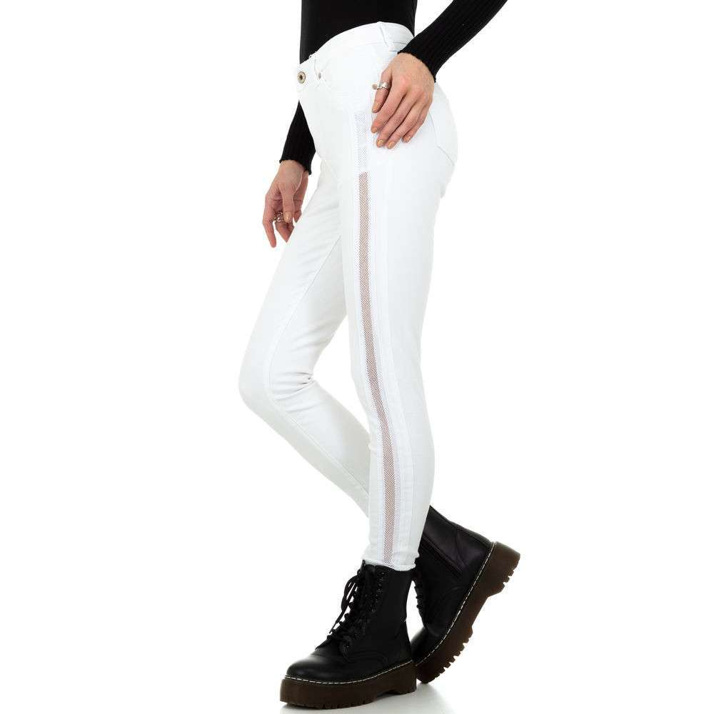Blugi de damă marca Dromedar - albi - image 2