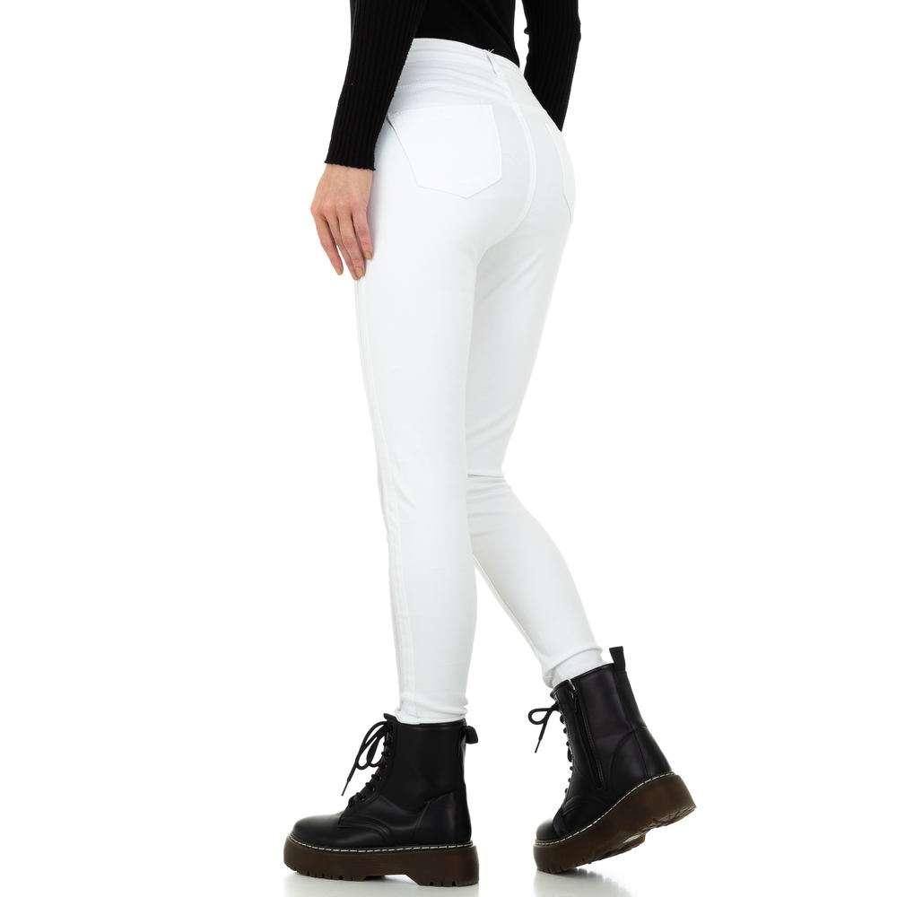 Blugi de damă marca Dromedar - albi - image 3