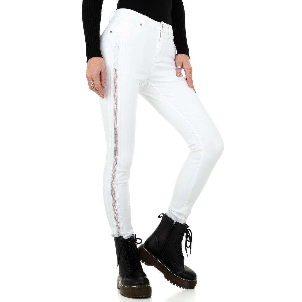Blugi de damă marca Dromedar - albi - image 5