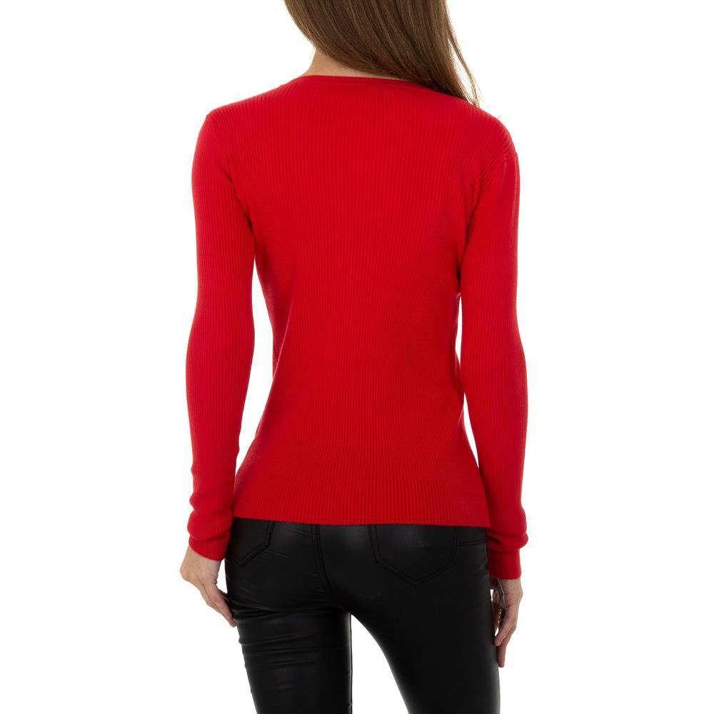 Pulover pentru femei de la Metrofive - roșu - image 3