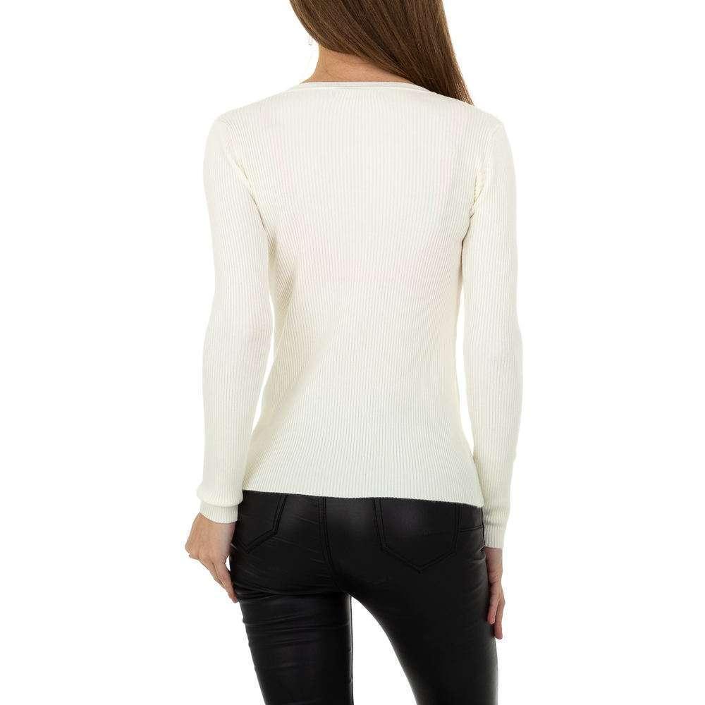 Pulover pentru femei de la Metrofive - alb - image 3