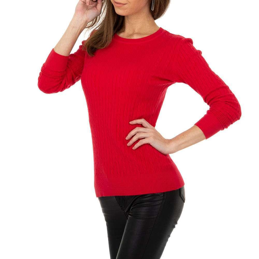 Pulover pentru femei de la Metrofive - roșu - image 4