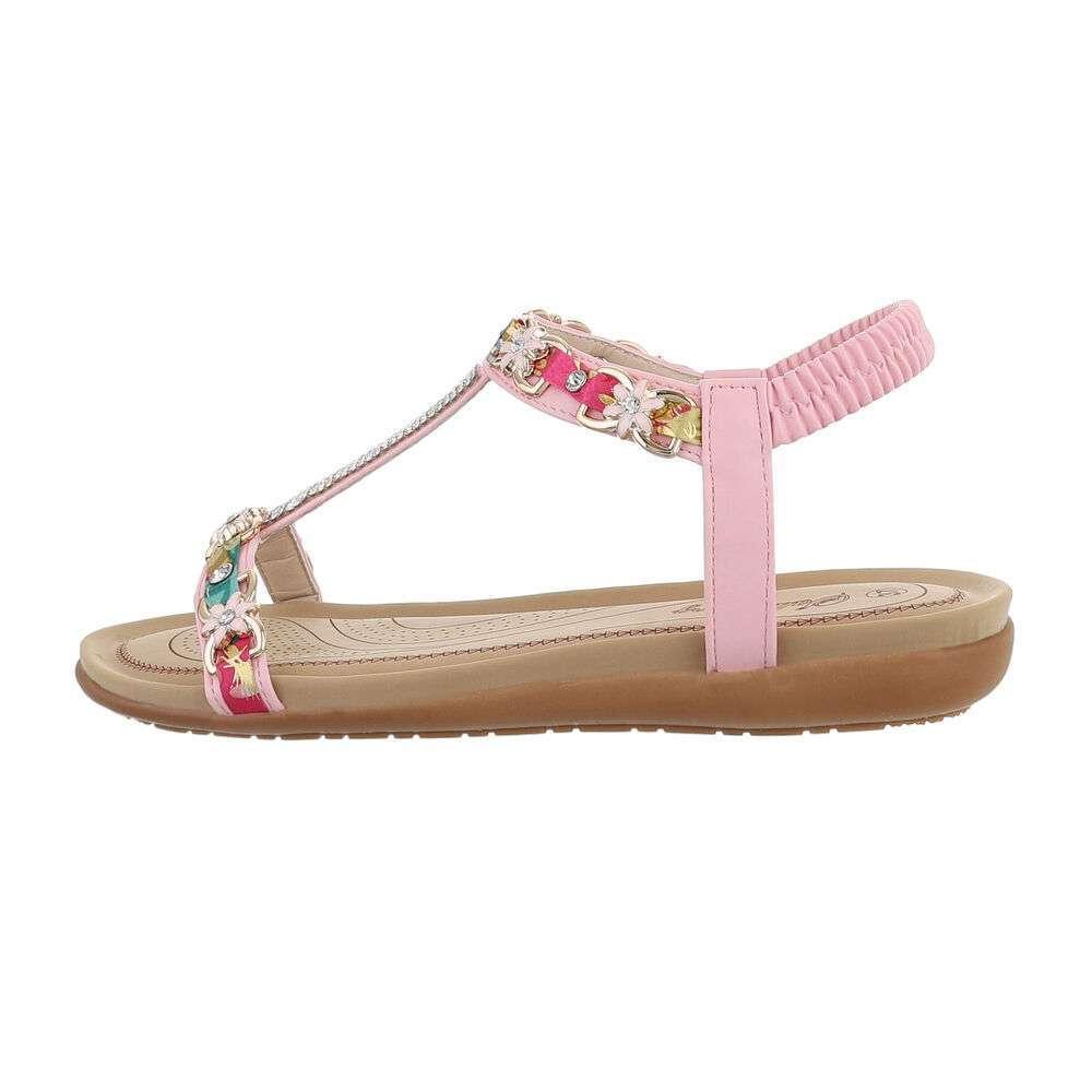 Damen Flache Sandalen - pink