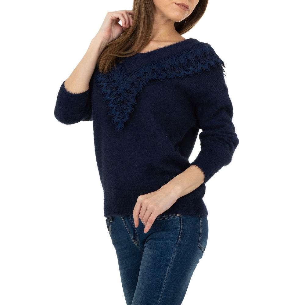 Pulover pentru femei de la Queens Collestion Gr. O singură mărime - bleumarin - image 4