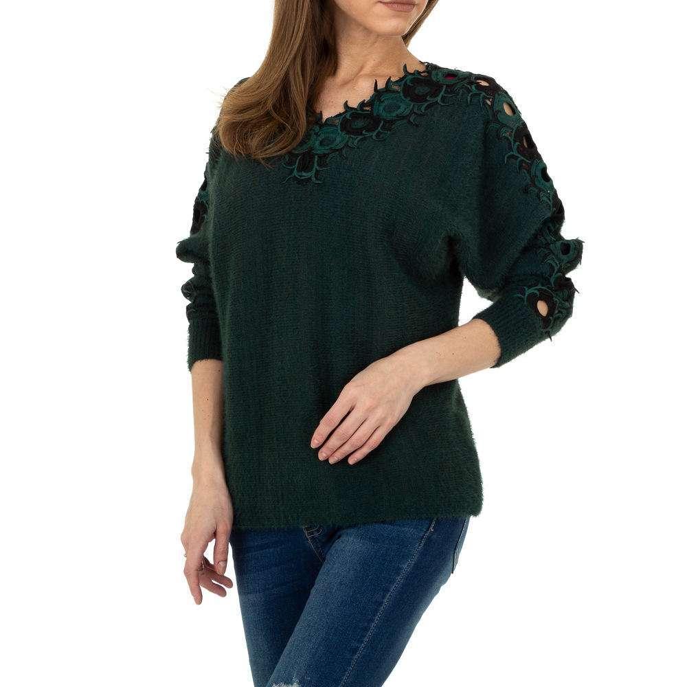 Pulover pentru femei de la Queens Collestion Gr. O mărime - verde - image 4