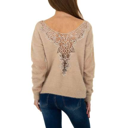 Damen Pullover von Queens Collestion Gr. One Size - beige