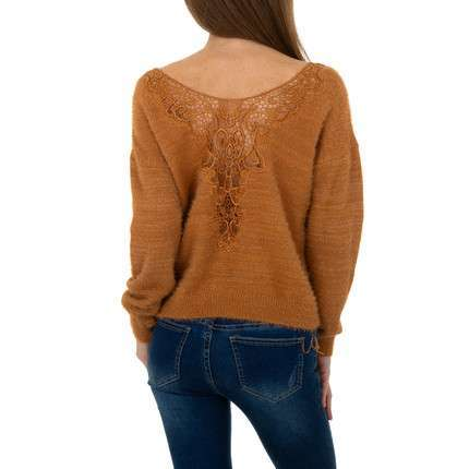 Damen Pullover von Queens Collestion Gr. One Size - camel