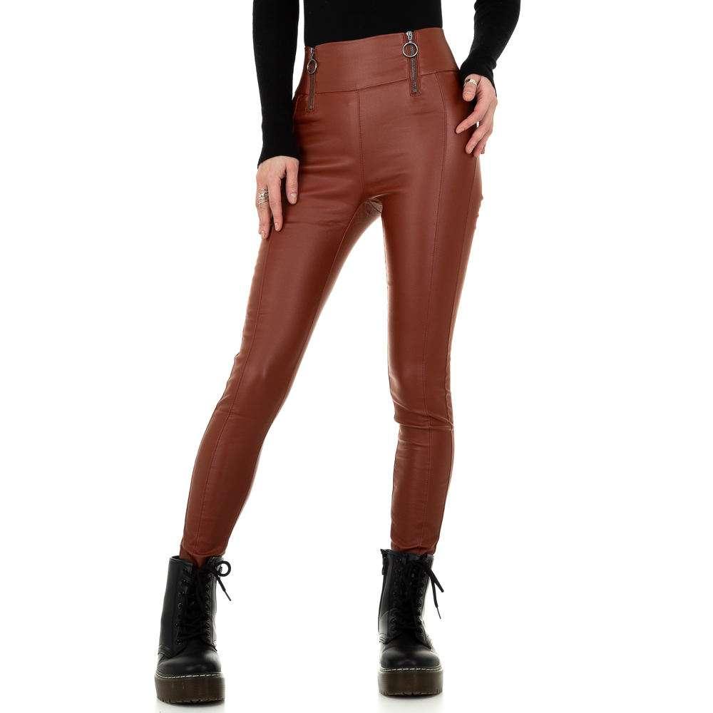 Pantaloni de dama de la Daysie - închis orange