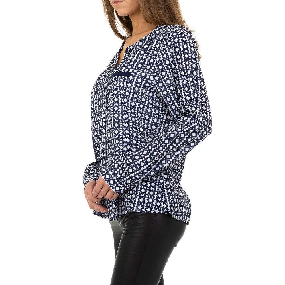 Bluză de cămașă pentru femei de Metrofive - albastră - image 2