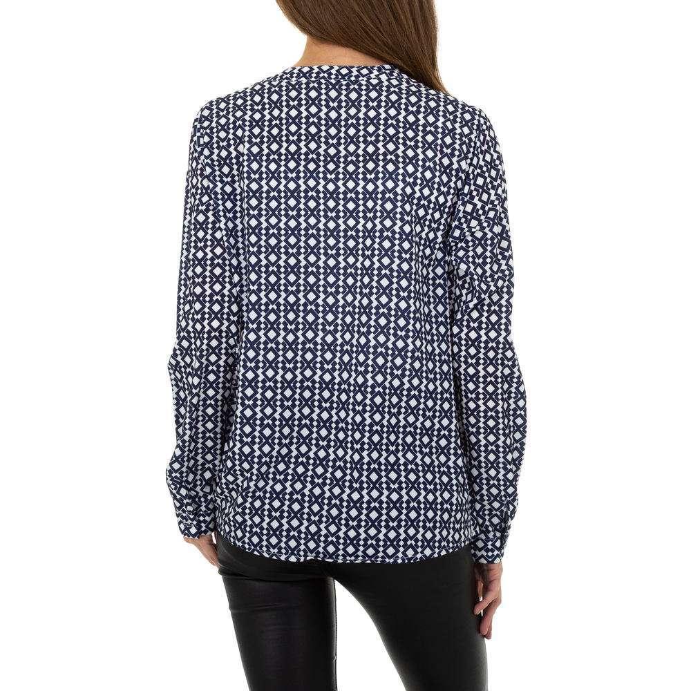 Bluză de cămașă pentru femei de Metrofive - albastră - image 3