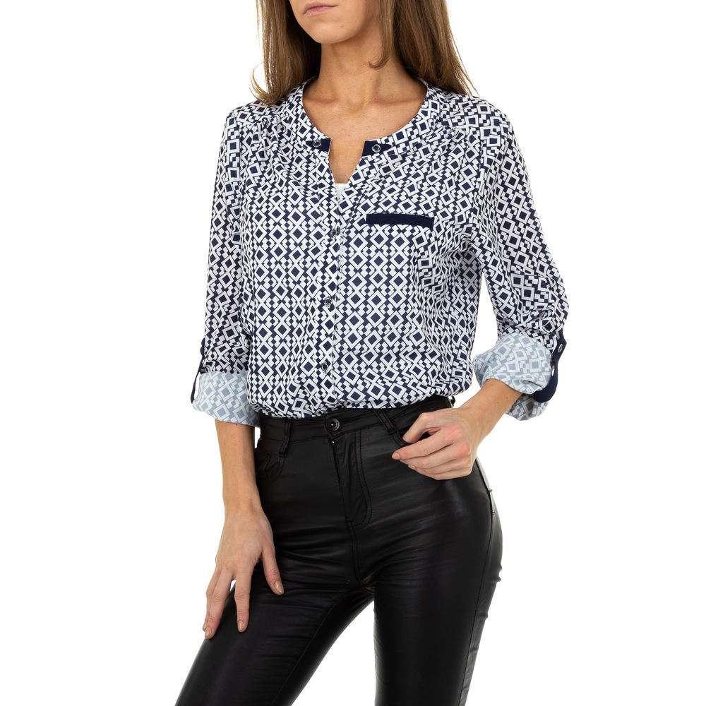 Bluză de cămașă pentru femei de Metrofive - albă