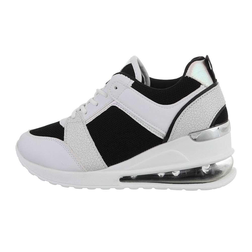 Pantofi sport înalți pentru femei - negri