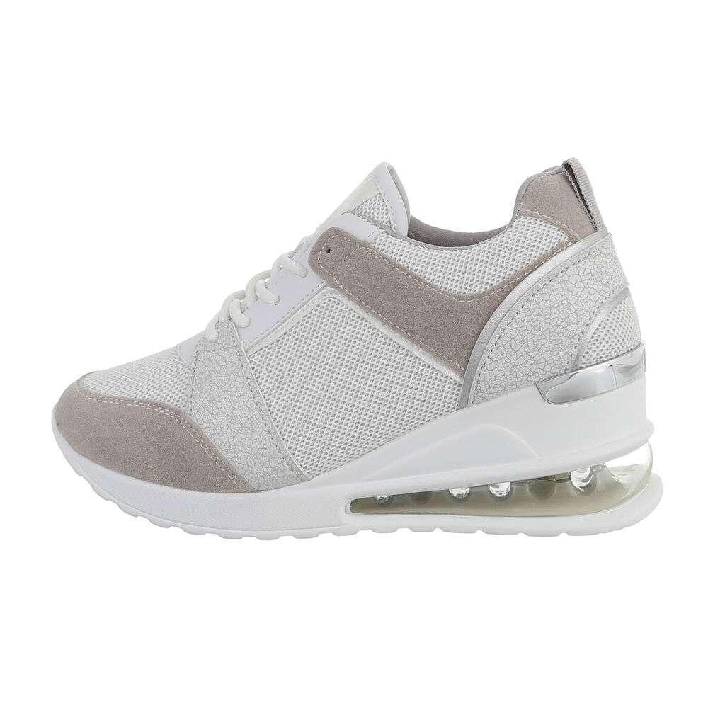 Pantofi sport înalți pentru femei - gri