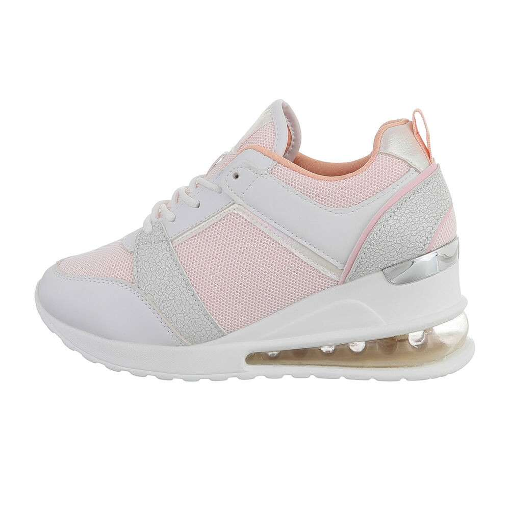 Pantofi sport înalți pentru femei - roz