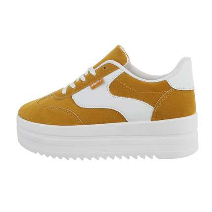 Damen Low-Sneakers - yellowwhite