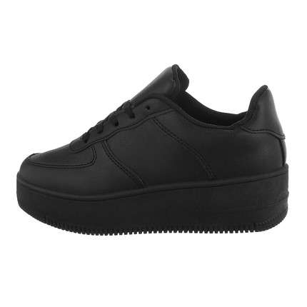 Damen Low-Sneakers - allblack