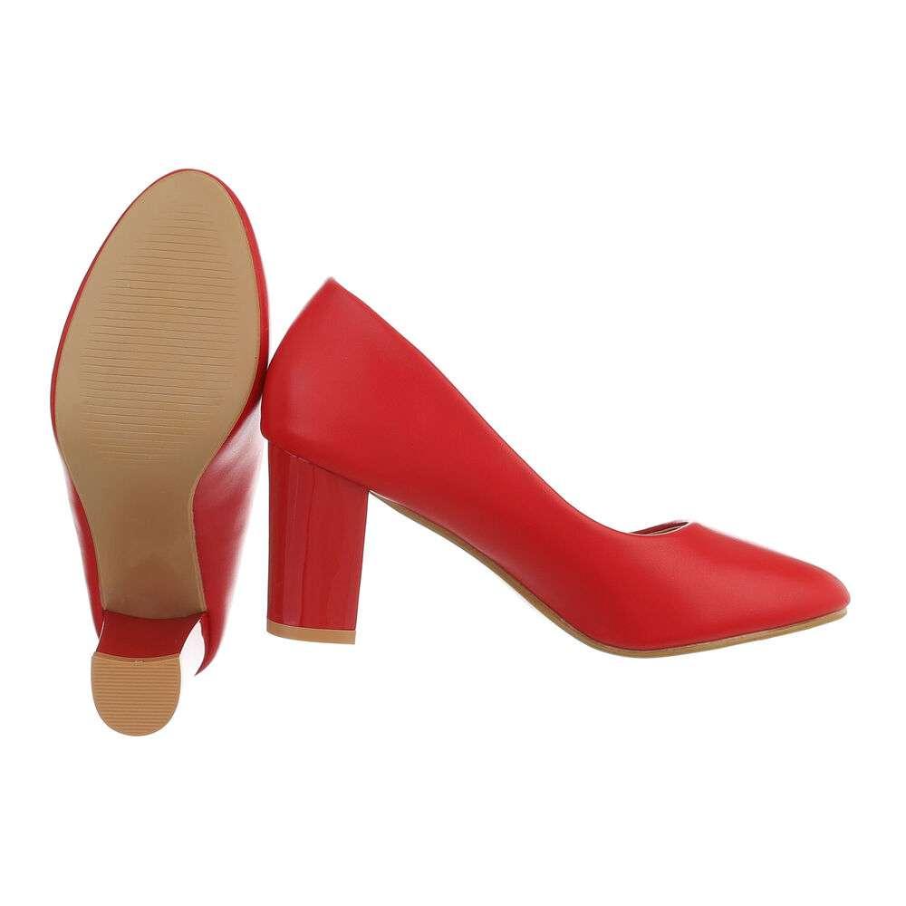 Pantofi cu toc înalt pentru femei - roșu - image 2