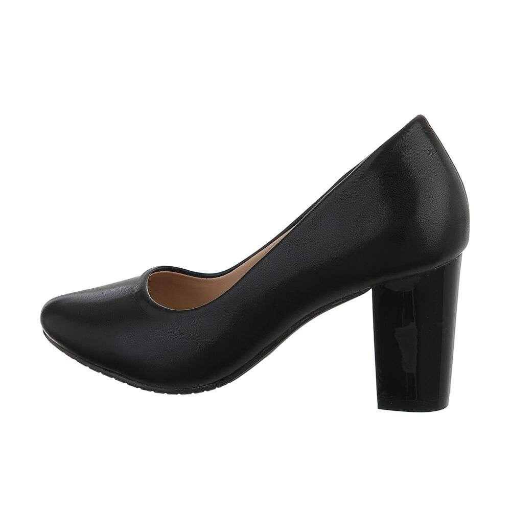 Pantofi cu toc înalt pentru femei - negru - image 1