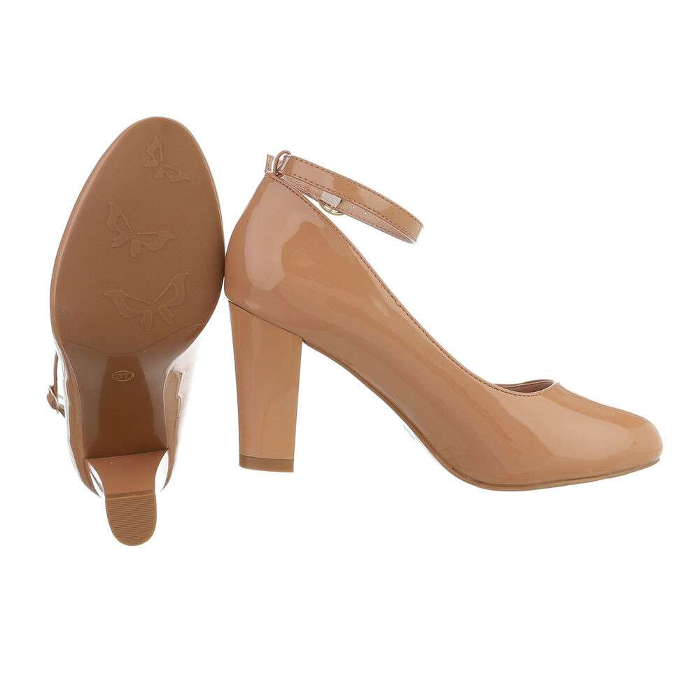Pantofi cu toc înalt pentru femei - cămilă - image 2