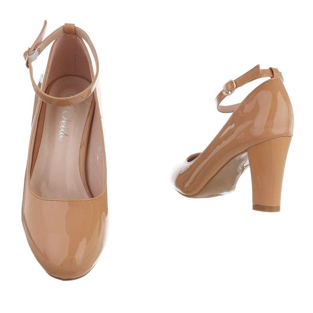 Pantofi cu toc înalt pentru femei - cămilă - image 3