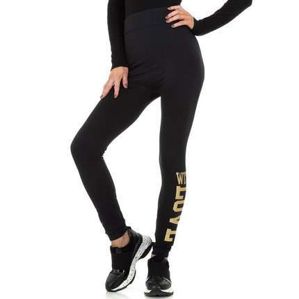 Damen Leggings von Fashion Gr. One Size - blackgold