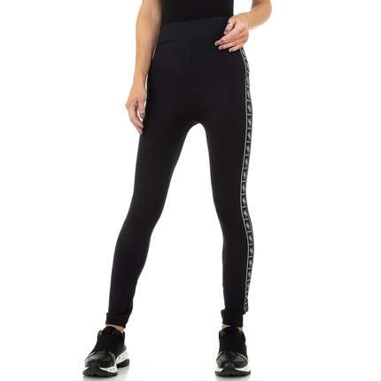 Damen Leggings von Fashion Gr. One Size - blacksilver