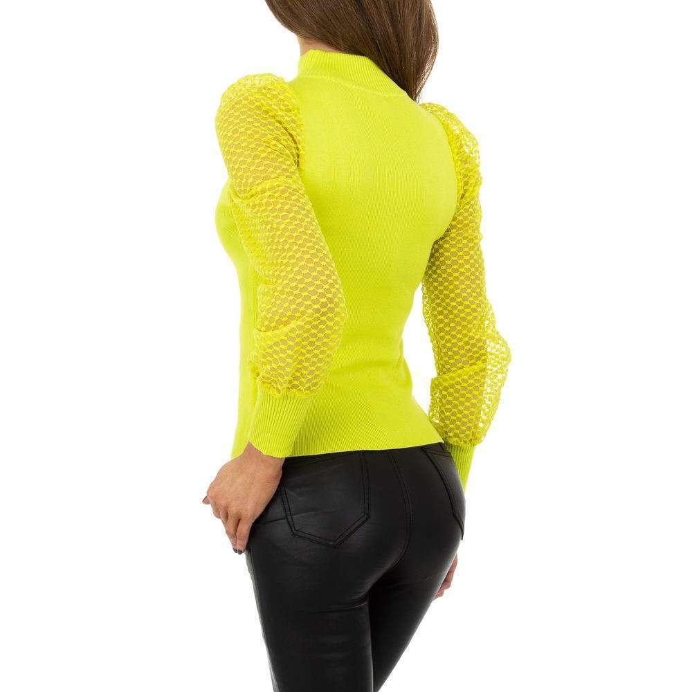 Pulover pentru femei de Drole de Copine Gr. O mărime - galben - image 3